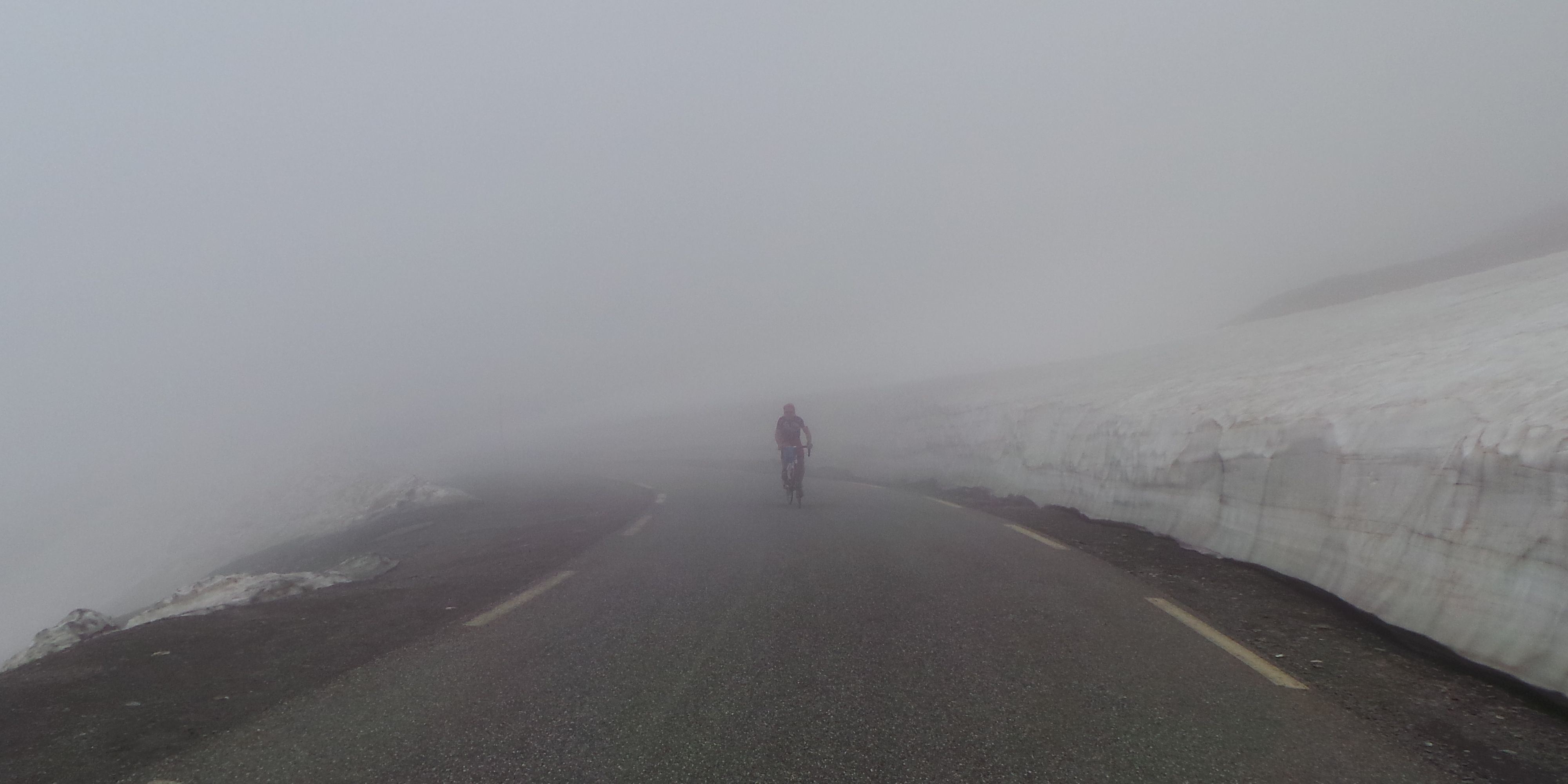 Col d'Agnel - no view from the summit, I guess...