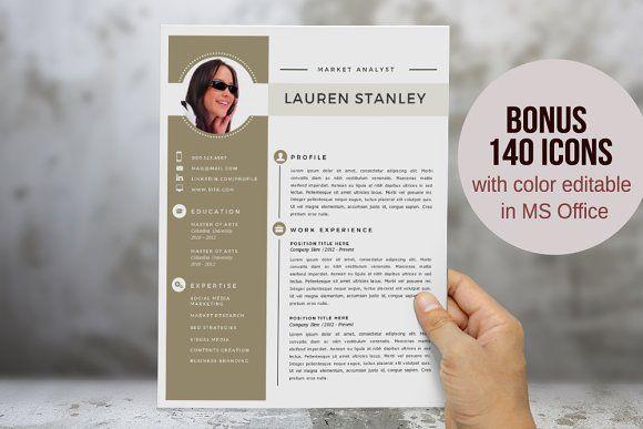 Elegant 2 in 1 Word resume template by Inkpower on @creativemarket - elegant resume template