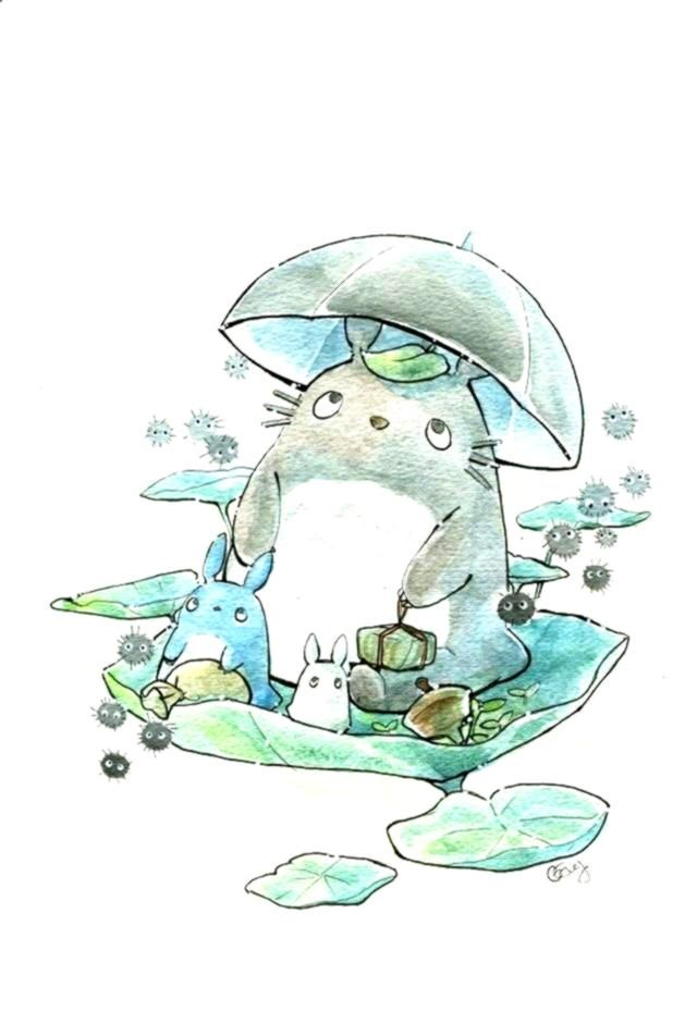 #illustration #watercolor #keyonnany #clothing #yourself #leggings #cosplay #fitness #totoro #kawaii...