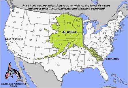 The largest state in the US Size does matter Alaska