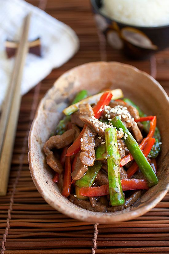 Asparagus beef is a chinese recipe made with asparagus and beef in asparagus beef is a chinese recipe made with asparagus and beef in yummy brown sauce forumfinder