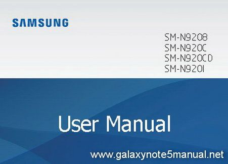 Download Samsung Galaxy Note 5 Manual \/ User Guide in PDF format - sample user manual template