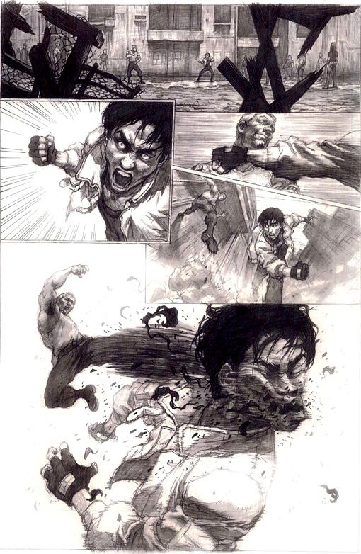 Reference Illustration Action Exaggerated Reaction Fight Scene