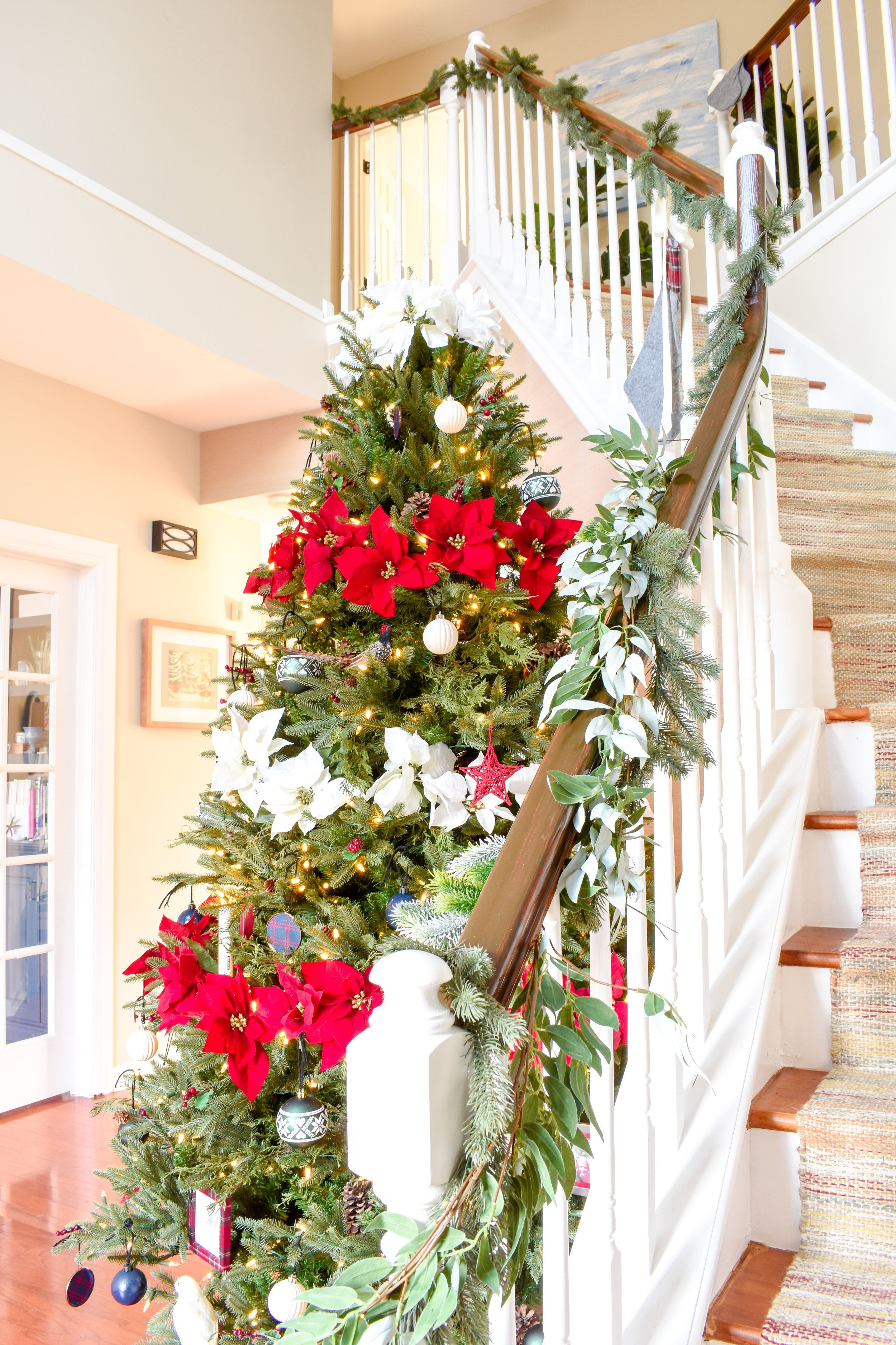 My Christmas Home Tour How To Decorate With Traditional Holiday