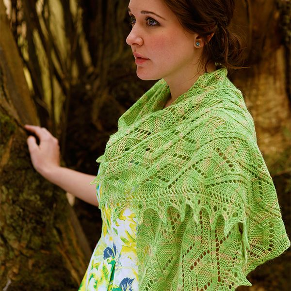 Siena Free Shawl Knitting Pattern In Artesano Hand Painted 4 Ply