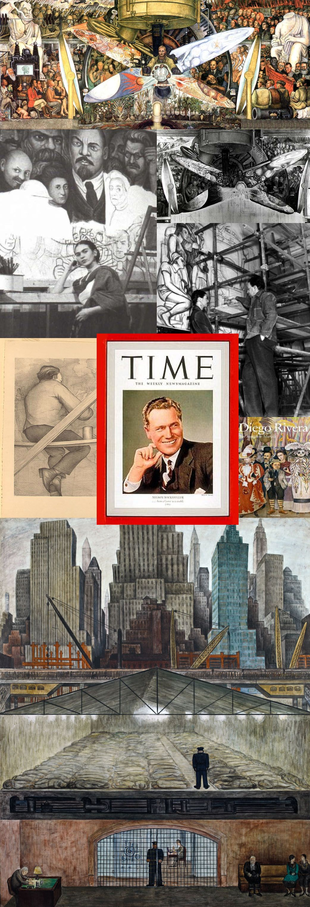 Man at the crossroads diego rivera 1932 34 mural for Diego rivera mural at rockefeller center