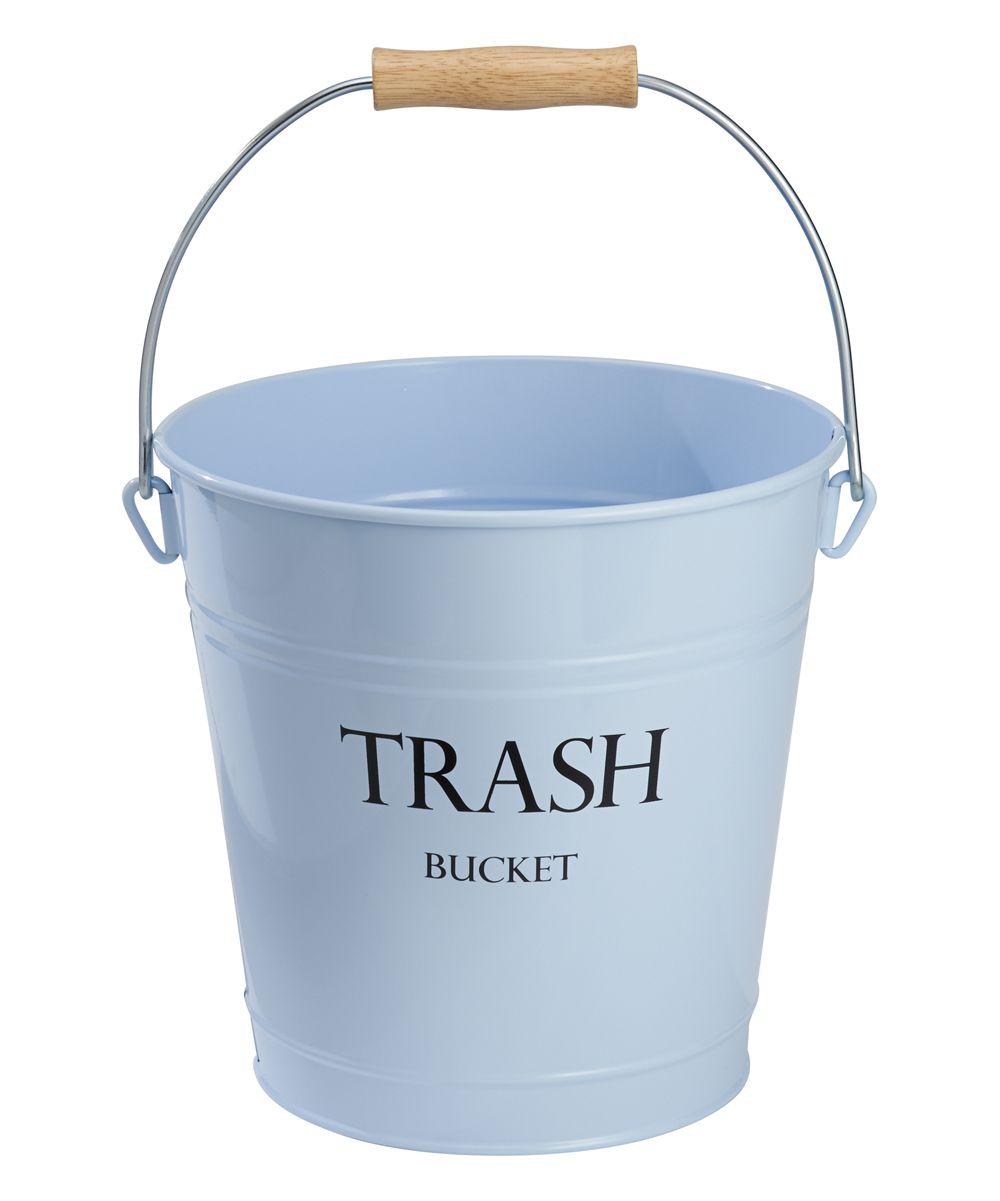 Trash Bucket Light Blue Pail Bucket Light Trash Containers Bucket