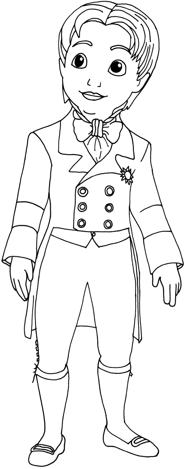 Click here to print Prince James Sofia the First coloring page in ...