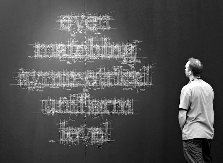 Meticulous Blueprint Chalk Typography by Liz Collini.