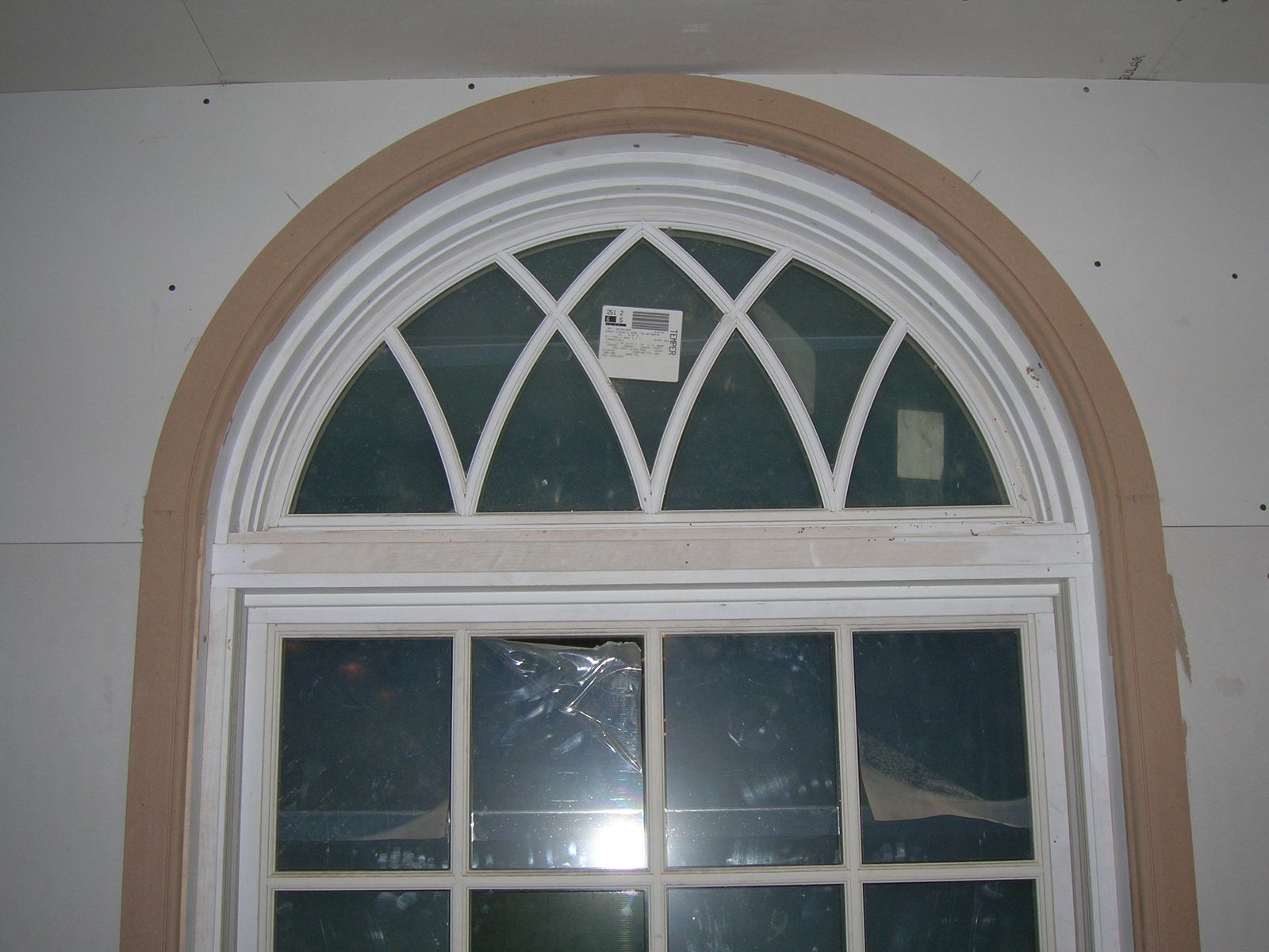 Window Casing For Those Weird Half Moon Windows For
