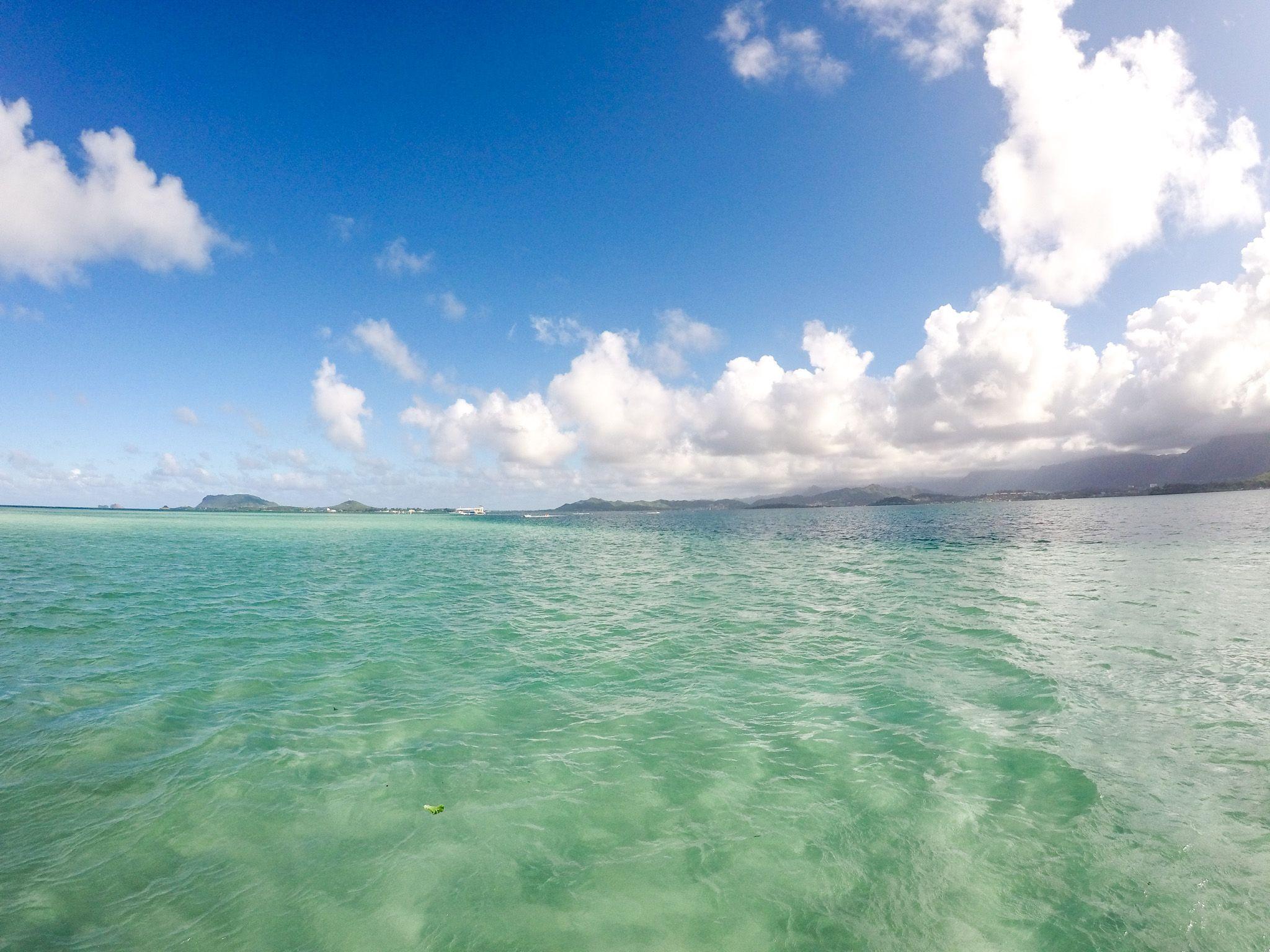 ハワイは最近日が暮れるのが早くなってきました Captainbruce Sandbar Kaneohe Hawaii Oahu Boat Ocean キャプテンブルース 天国の海 サンドバー ハワイ大好き 景色 海 Oahu Kaneohe Private Yacht