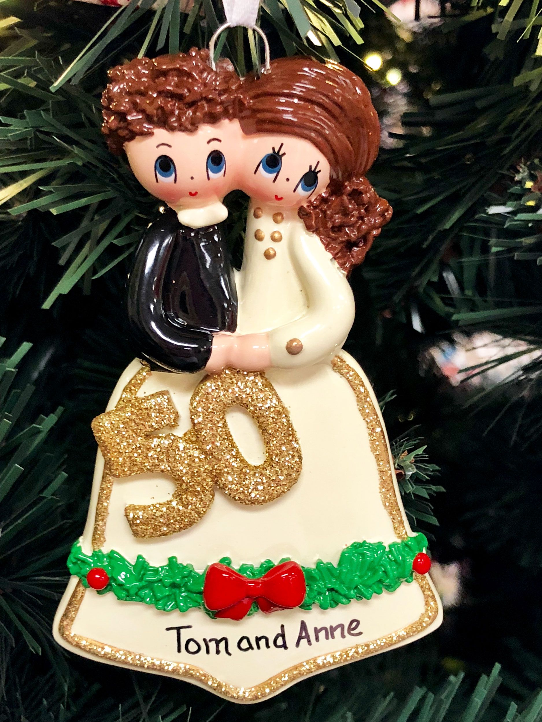 Personalized 50th Wedding Anniversary Christmas Ornament ...