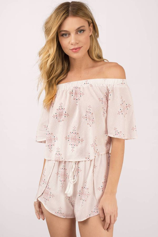 On The Edge Tiegan Print Off Shoulder Top at Tobi.com #shoptobi