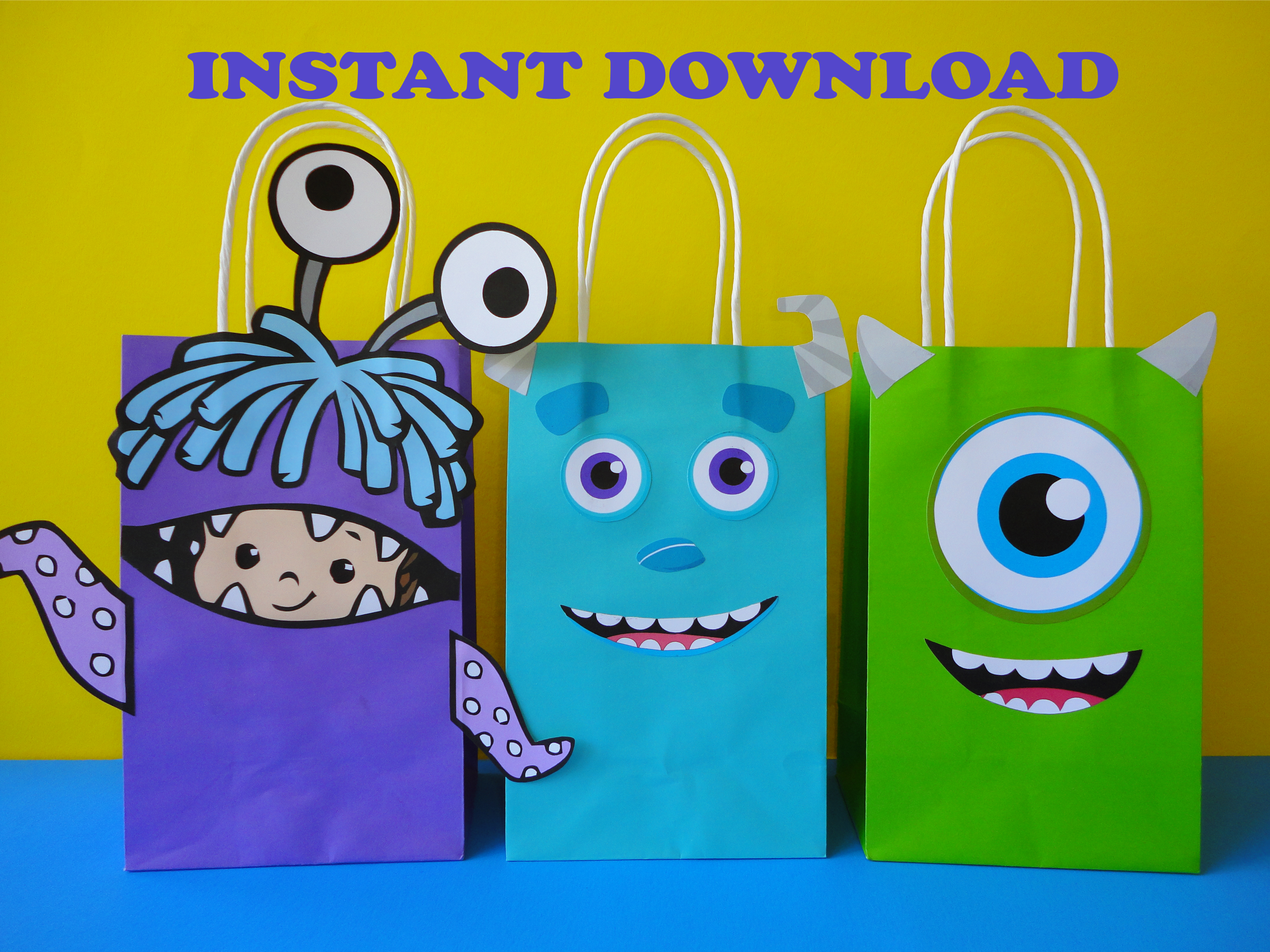 Monsters Inc Party Favor Bags - Monsters Inc/ Monsters ...