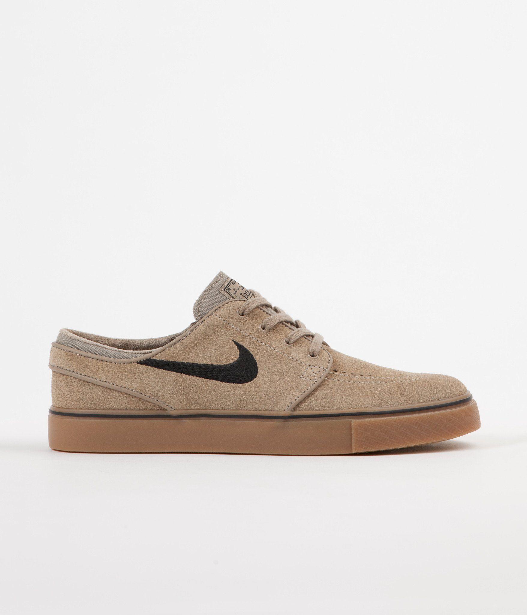 de7f99d3a58e97 Nike SB Stefan Janoski Shoes - Khaki   Black - Gum Light Brown ...