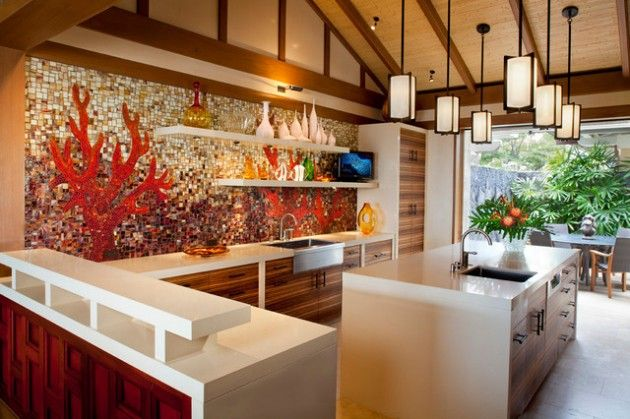30 Best Tropical Kitchen Design Ideas & 30 Best Tropical Kitchen Design Ideas | kitchens | Pinterest ...