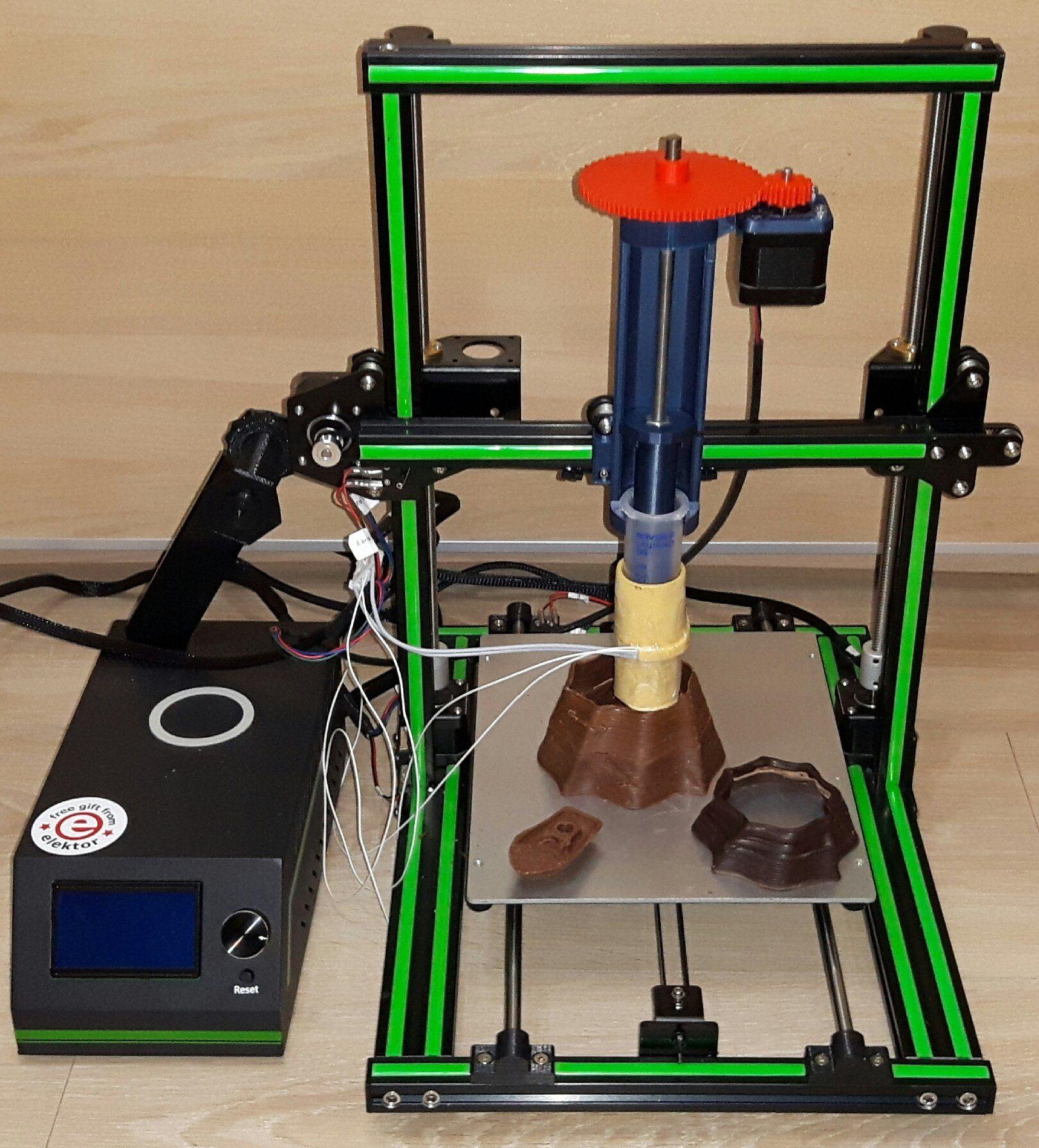 Chocolate 3d Printer Chocolate Extruder By Marvtec By Marvtec Thingiverse Chocolate 3d Printer 3d Printer Printer