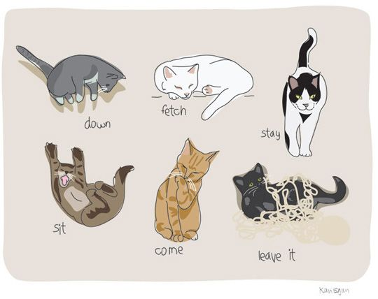 What all know what cats do best — their own thing. This cute illustration from Kari Egan definitely captures our feline friends in all their glory. Available from Kari's Etsy shop, Pop Doggie, as a magnet or a print.