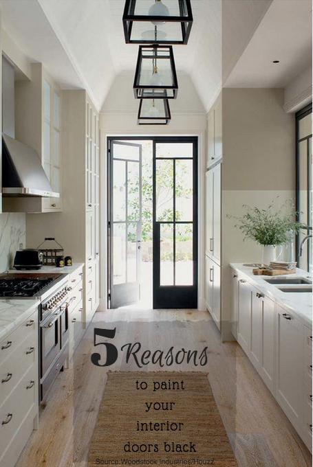 Door Drama! 5 Reasons To Have Black Interior Doors!   Salir, Cocinas ...