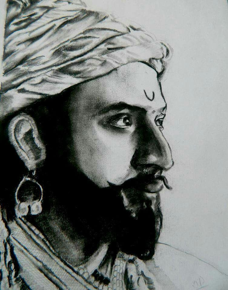 Shivaji pencil sketch