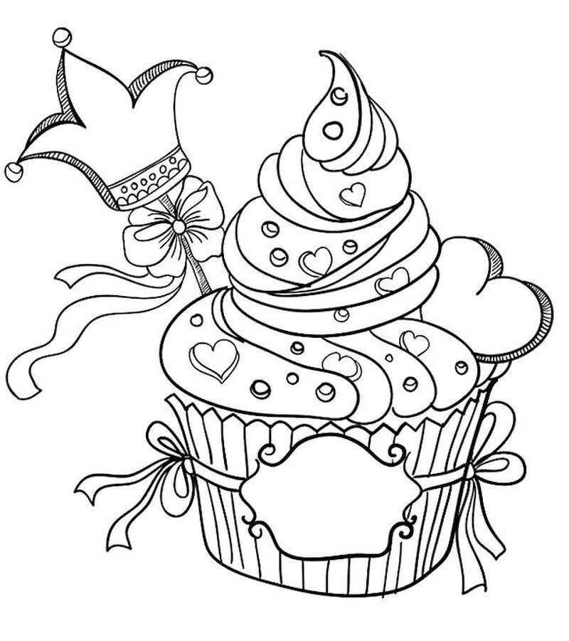 Coloring Pages For Adults With A Cupcake Valentine Coloring Pages Valentines Day Coloring Page Cupcake Coloring Pages
