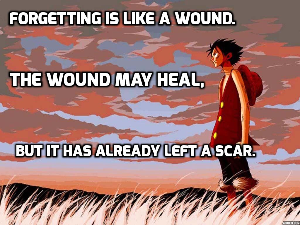 Anime One Piece Character Luffy Quote is like