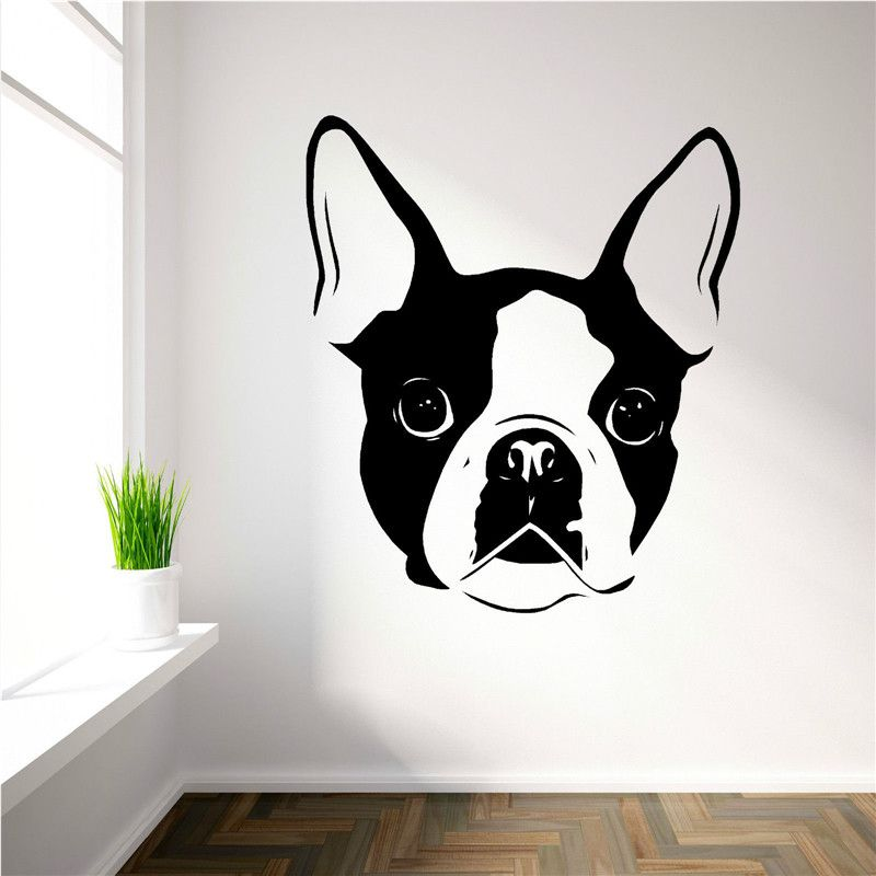 Genial G390 BOSTON TERRIER DOG FACE Vinyl Wall Art Decal Sticker Kids Room Cute Dog  Dog Wall