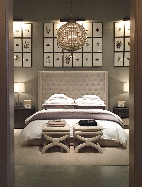Restoration Hardware Bedroom Inspiration