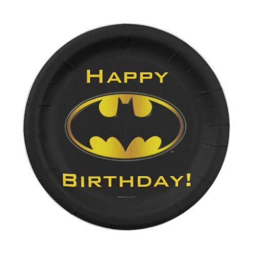 Batman Symbol | Oval Gradient Logo Paper Plate