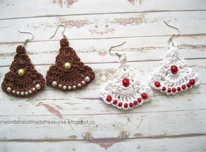 Melinda\'s Treasures: Pattern :Gypsy Road Earrings... These are quite ...