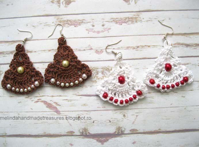 Melinda\'s Treasures: Pattern :Gypsy Road Earrings... These are quite ...