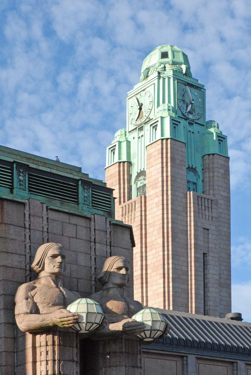 Art deco and art nouveau buildings, such as the Helsinki