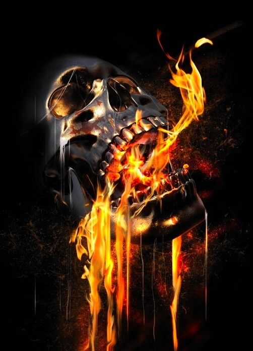 Manchester United Animated Wallpapers Fire Skull Wallpaper Blood Orange Mega Extra Wallpaper