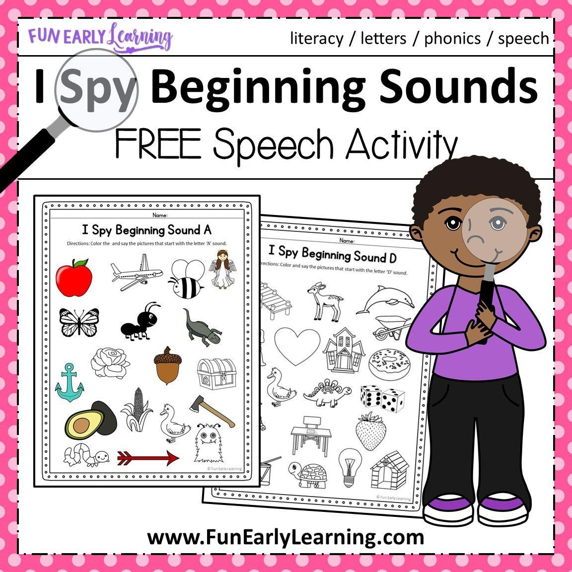 I Spy Beginning Sounds Activity