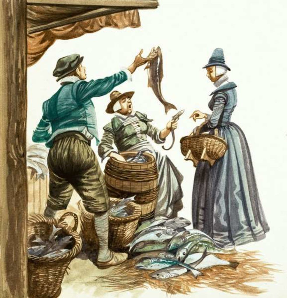 Once Upon A Time Market And Street Traders In The Tudor Age Historical Illustration The Tudor Historical Pictures