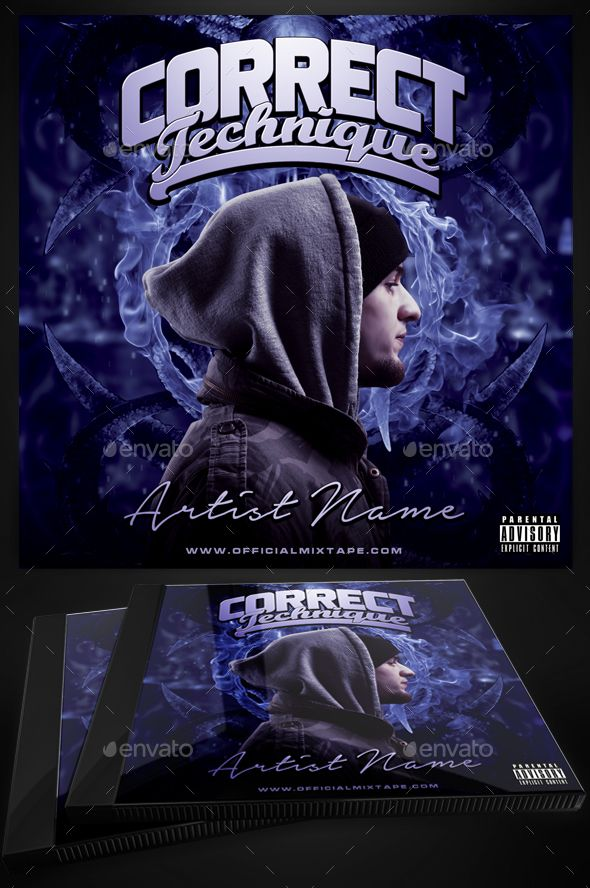 Correct Technique Mixtape Cover Template For Photoshop | Cover