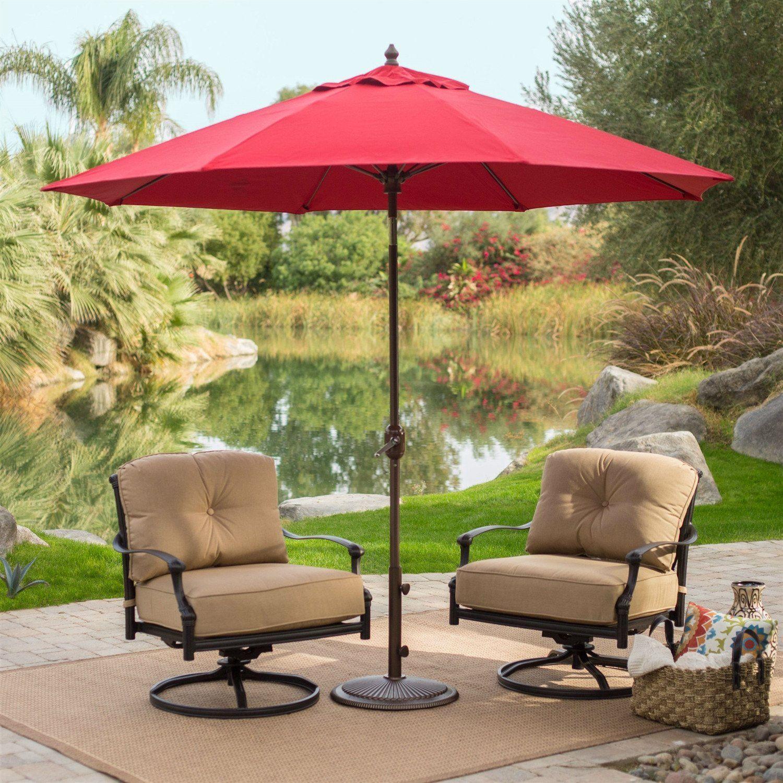Sunbrella 9 Ft Patio Umbrella with Deluxe Tilt in Antique Bronze