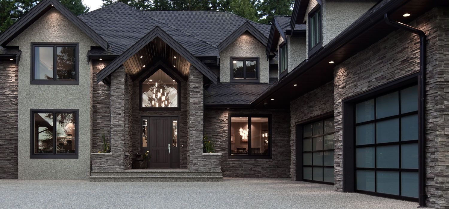 Home exterior garage black mountain pro fit alpine for Exterior ledgestone
