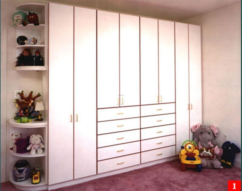 Wardrobes beautify the living room and provide storage for Bedroom cabinet designs india
