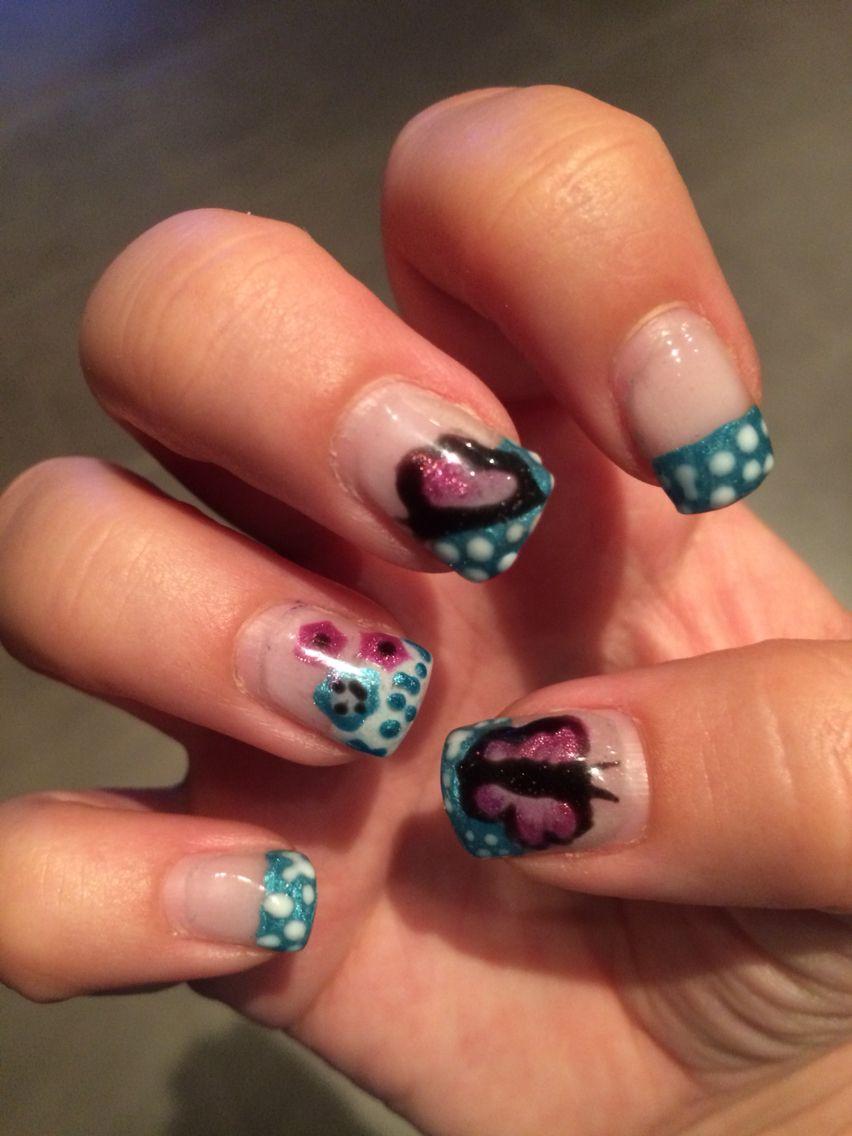 Nails - Nageldesign bunt mit Schmetterling   Nageldesign   Pinterest ...