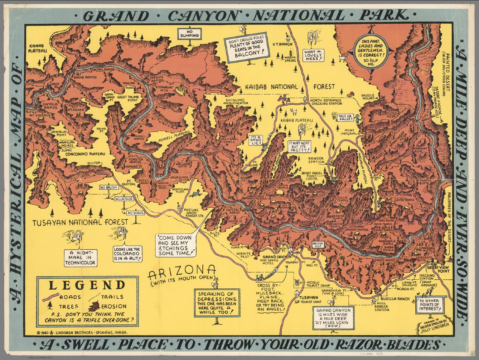 Vintage Infodesign Pinterest Grand Canyon Park And - Grand canyon tourist map