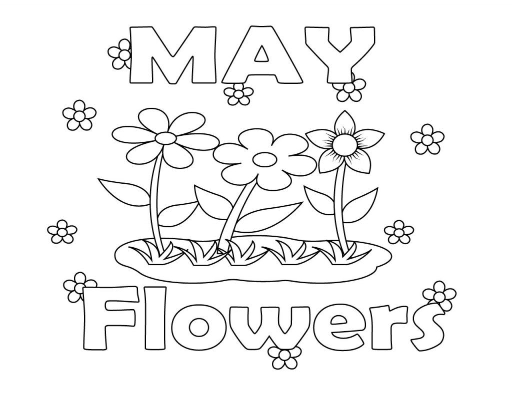 May flower coloring pages free coloring pages pinterest