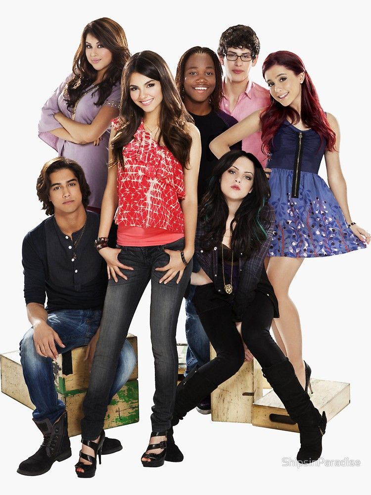 Victorious Cast Sticker By Shipsinparadise In 2020 Victorious
