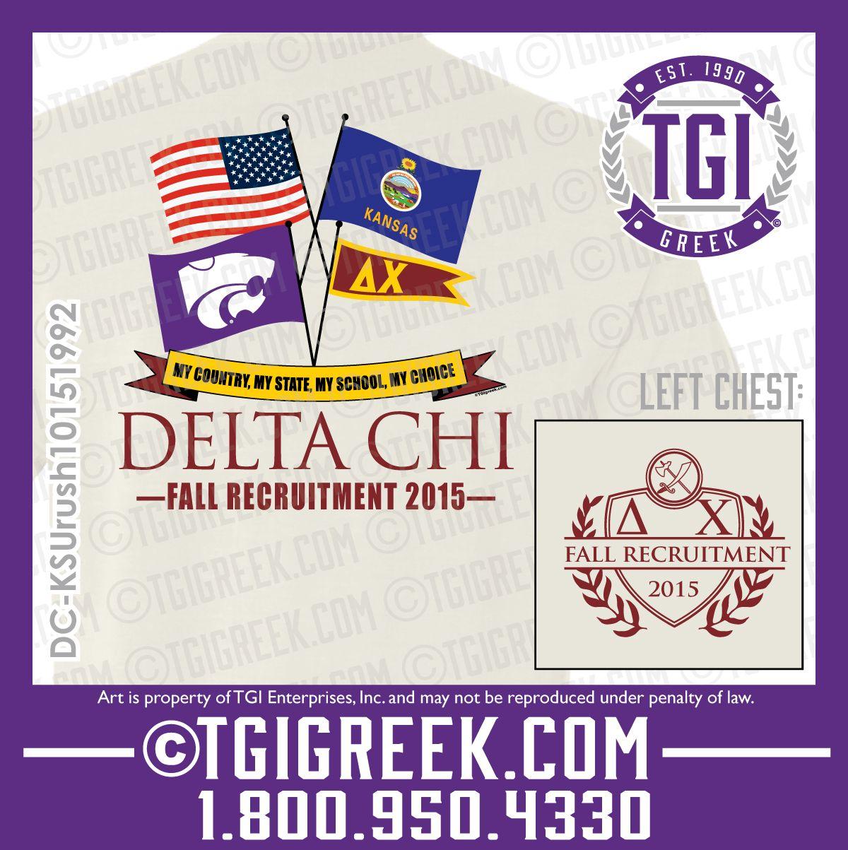 TGI Greek - Delta Chi - Fraternity Recruitment - Greek T-shirts - Comfort Colors - Rush  #tgigreek #deltachi #rush
