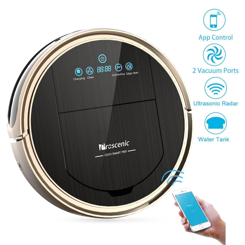 staubsauger roboter proscenic 790t wifi saugroboter roboterstaubsauger hohe saugkraft. Black Bedroom Furniture Sets. Home Design Ideas