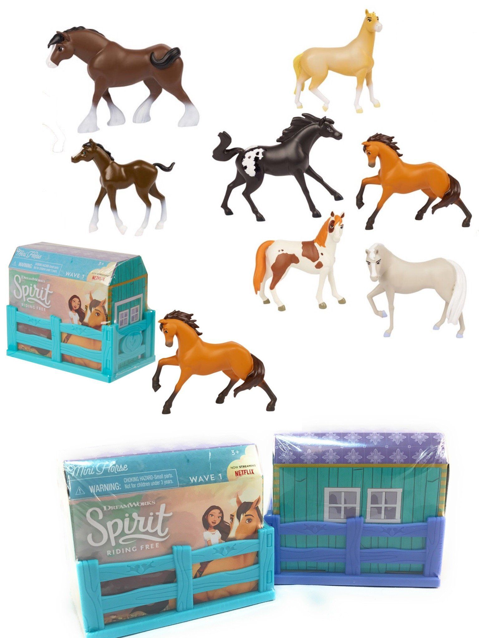 SET OF 2 DreamWorks SPIRIT RIDING FREE Mini Horse Figures Blind Box