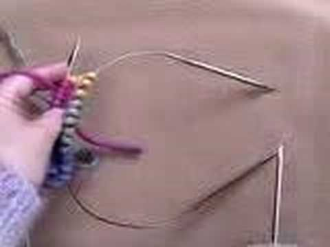 Cat Bordhi - Part 1: Knitting on 2 circular needles. How to join on 2 circa. ...