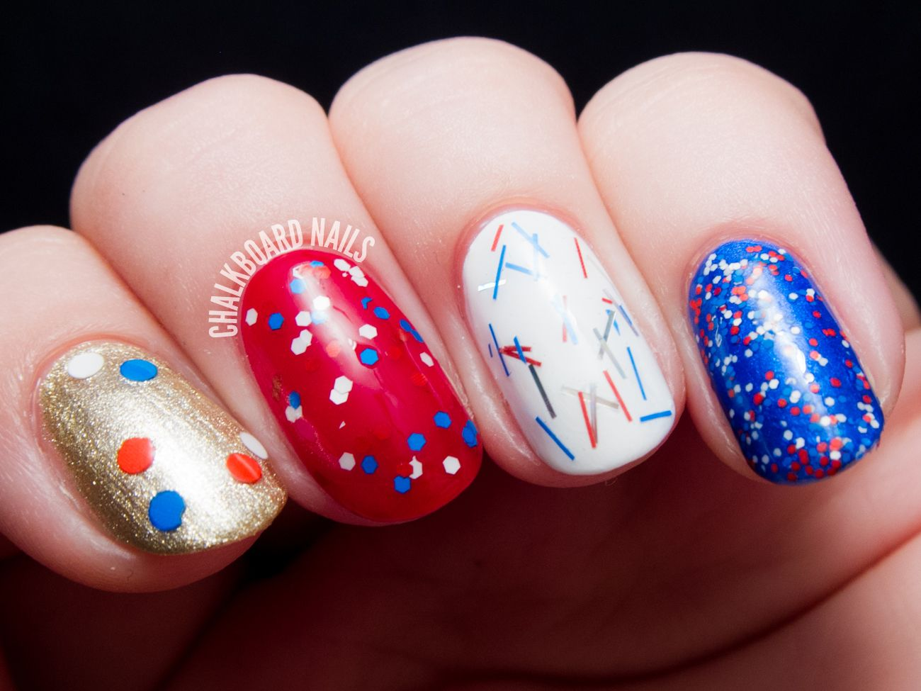 Star spangled topcoats from salon perfect with bonus swatches