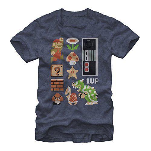 Nintendo Retro Super Mario Bros Mens M Graphic T Shirt - Fifth Sun @ niftywarehouse.com #NiftyWarehouse #Mario #SuperMario #Nintendo #VideoGames #Gaming #MarioBrothers