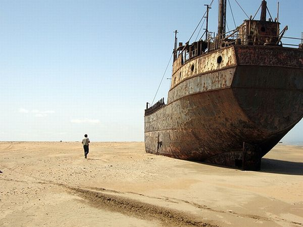 the skeleton coast in namibia...a ship's graveyard